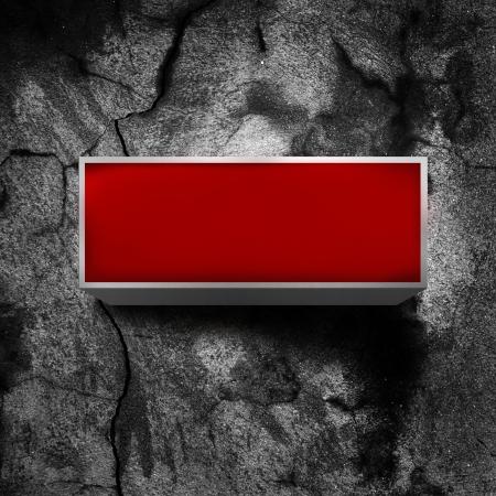 light display: Vintage red light display over a dark, grunge background