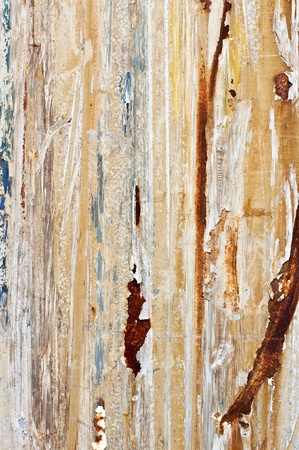 corroded: Corroded metal texture with old peeling paint