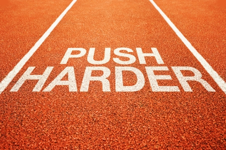 harder: Push harder on athletics all weather running track