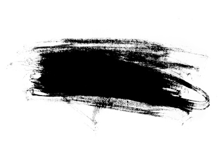 paint stroke: Abstract paint brush stroke  Black brush stroke over textured white paper background