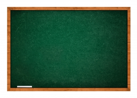 rasa: Empty blank green chalkboard with wooden frame with white chalk