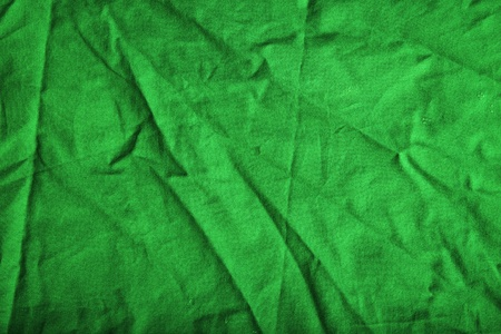 scrunch: Creased green canvas background or texture
