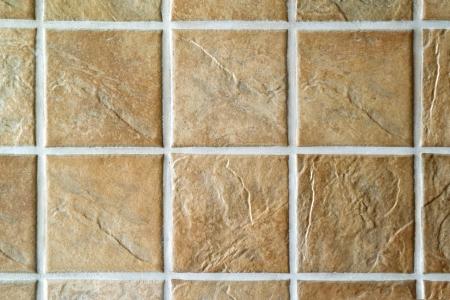 ベージュ モザイク壁または床用セラミック タイルをタイルします。