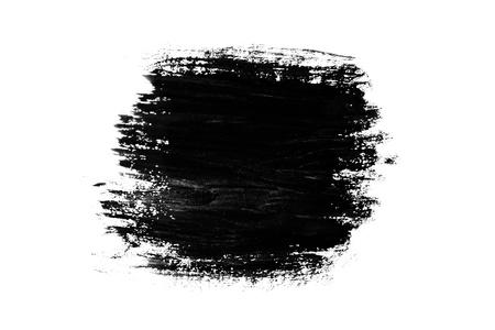 brush stroke: Abstract paint brush stroke. Black brush stroke over textured white paper background.