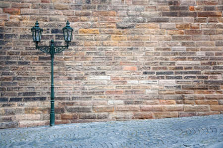 Street lantern on the streets of Prague photo