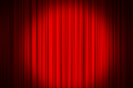 Red curtain on theater or cinema stags Stock Photo - 21854226