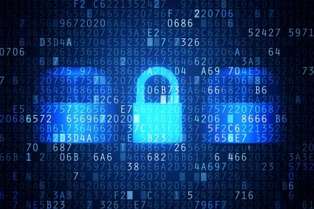 Computer-Sicherheitscode ein abstraktes Bild Passwortschutz konzeptionelle Bild