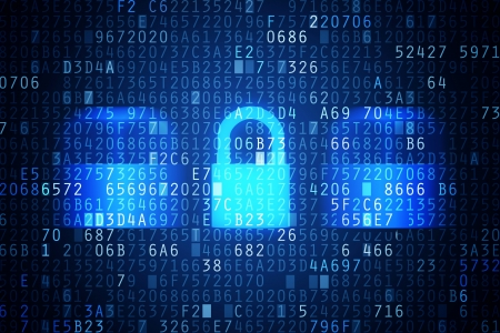 password: Equipo de seguridad Código de la imagen abstracta Password imagen conceptual protección