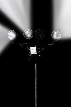 venue: Stadium lights, sport venue illumination. Stock Photo