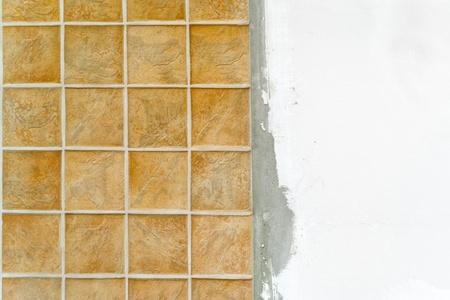 azulejos ceramicos: Las baldosas cer�micas. Azulejos de mosaico beige de la pared o el piso.
