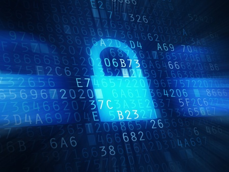 secured: Security code, password protection Stock Photo