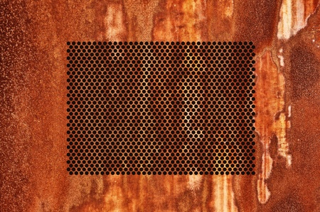 corroded: Corroded metal grid as background, rusty texture  Stock Photo
