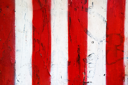 stripped: Red and white stripped grunge texture as background