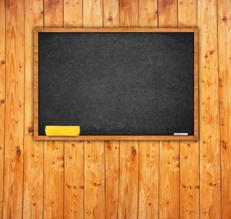 rasa: Black chalkboard with with sponge and chalk in the classroom.
