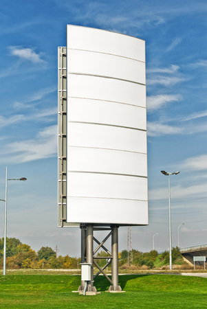 outdoor advertising: Large blank billboard as outdoor advertising background Stock Photo