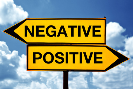 polarization: Negative or positive, opposite direction signs on the street