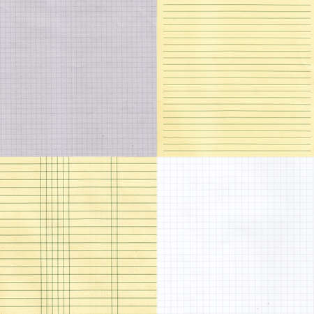 grid paper: Various grid paper textures as background