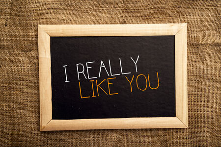 really: I really like you note on black message board