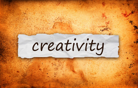 imaginativeness: Creativity title on piece of crumpled old  paper Stock Photo