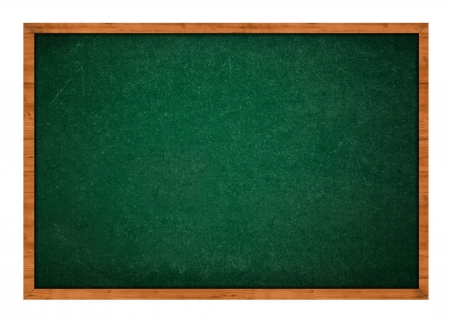 rasa: Empty blank green chalkboard with wooden frame