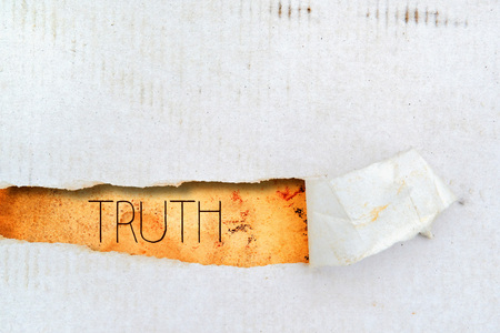 truths: Truth title on old grunge torn paper