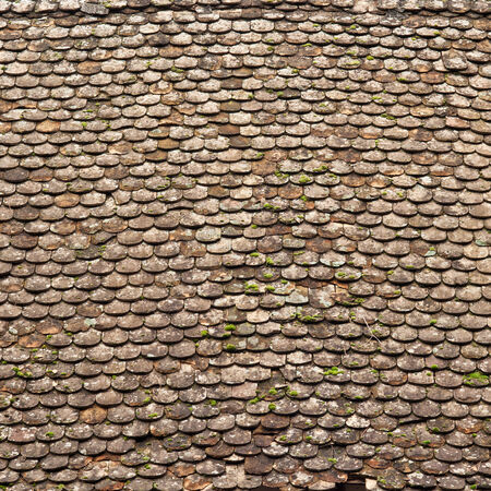 damaged roof: Old  roof tiling texture, damaged and ruined