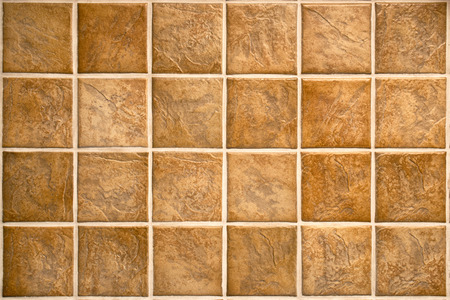 tile flooring: Ceramic tiles. Beige mosaic ceramic tiles for kitchen or bathroom wall or floor. Stock Photo