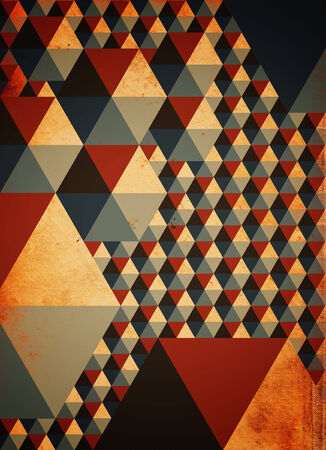 arty: Abstract colorful geometric pattern as background on grunge texture Stock Photo