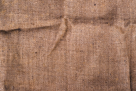 Texture of old dirty brown potato sack as background photo