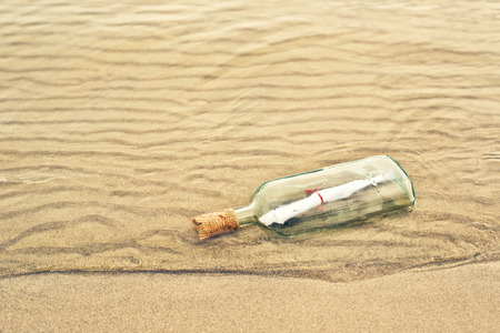 sos: Message in a bottle, conceptual image