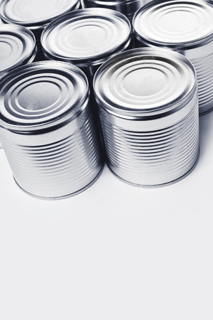 conserved: Closed tin cans. Cans are used for packing all sorts of goods - conserved food, chemical products such as paint, etc