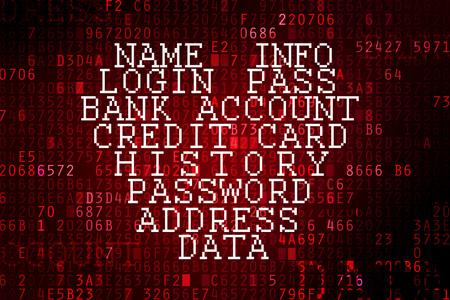 virus informatico: Bug Heartbleed. Contrase�a agrietada e Internet problema de seguridad concepto.