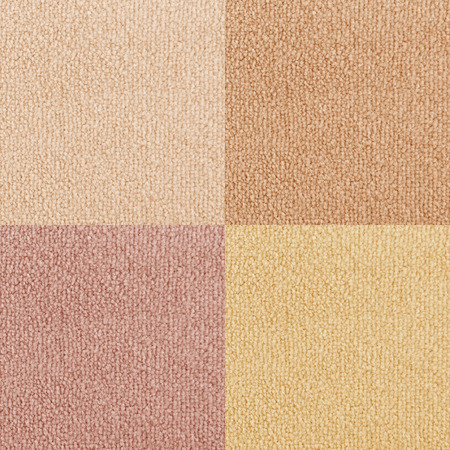 carpet and flooring: New carpet texture samples. Bright color carpet flooring as seamless background. Stock Photo