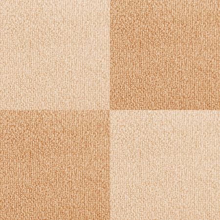 Nieuwe geruite tapijt textuur Bright Beige vloerbedekking als naadloze achtergrond