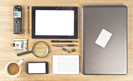 neatly: Web Designer Tools for creating web sites organized neatly Stock Photo