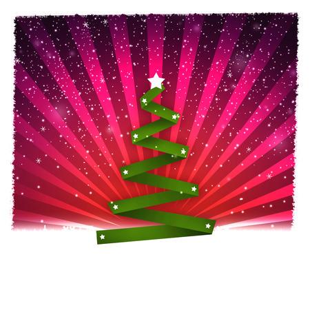 greeting season: Christmass tree as Holiday greeting card, christmass and new year holidays season conceptual image. Stock Photo