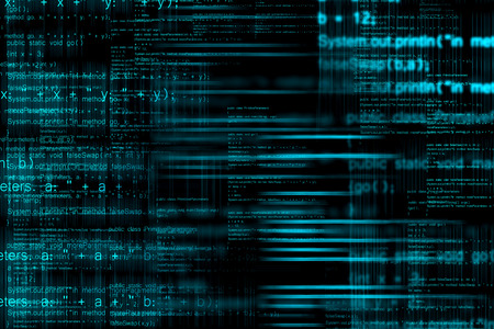 Abstract computer programming code as technology background