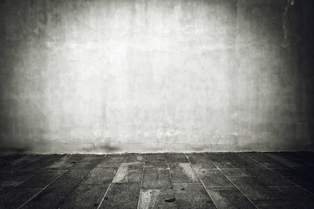 the concrete: Wide grunge vintage background, empty room interior as backdrop