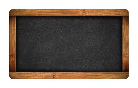 Vintage blank chalkboard slate isolated on white background Standard-Bild