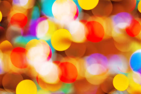 twinkling: Beautiful colorful defocused bokeh festive lights as abstract holiday celebration background