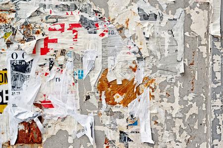 Gescheurde Poster muur textuur patroon als Stedelijke Achtergrond