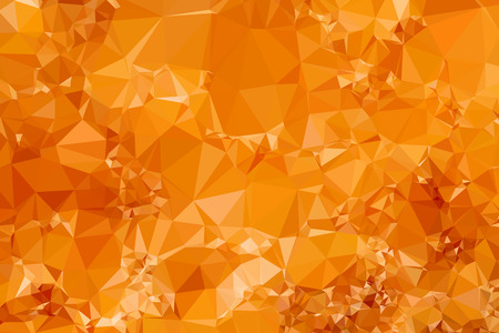 triangular shape: Modern Graphic Low Poly Orange Triangular Polygons as Abstract Background Pattern