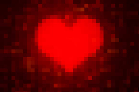 romatic: Piexlated Lovely Heart Pattern as Romatic Valentines Day background