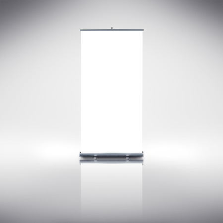 blank  banner: Blank Roll up banner as copy space template for your text or design portfolio
