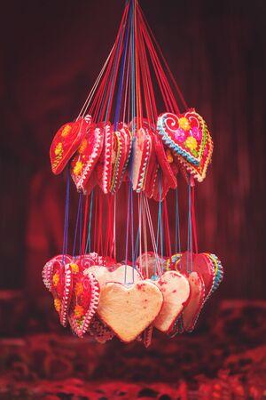 sweethearts: Sweethearts on Street Market, Vintage Retro Toned Image