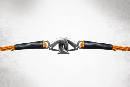 bonding rope: Orange Towing Ropes with Hooks Connected
