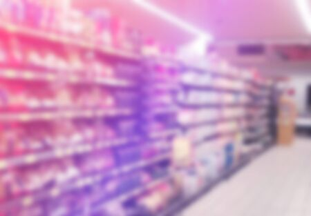 aisles: Blurred Abstract Supermarket Aisles Out of Focus for Consumerism, Shopping and Retail Concept