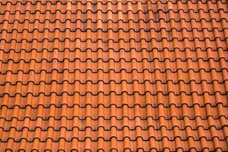 industry background: Old Roof Tile Pattern as Construction Industry Background