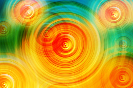 Abstract Colorful Radial Blur Background, Concentric Circles as Energy Radio Waves