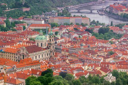 'saint nicholas': Prague Saint Nicholas Church and Lesser Town, Panoramic View from Petrin Hill
